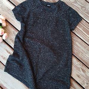 Daisy Fuentes Charcoal Tunic Sweater